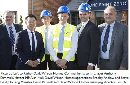 Housing Minister visits Havant to see leading new homes developments