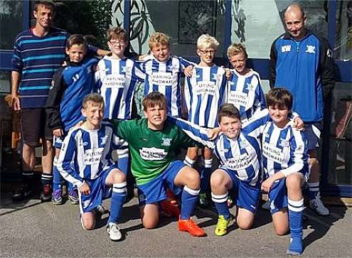 Hayling Hardware sponsors two Hayling St. Andrews football teams!