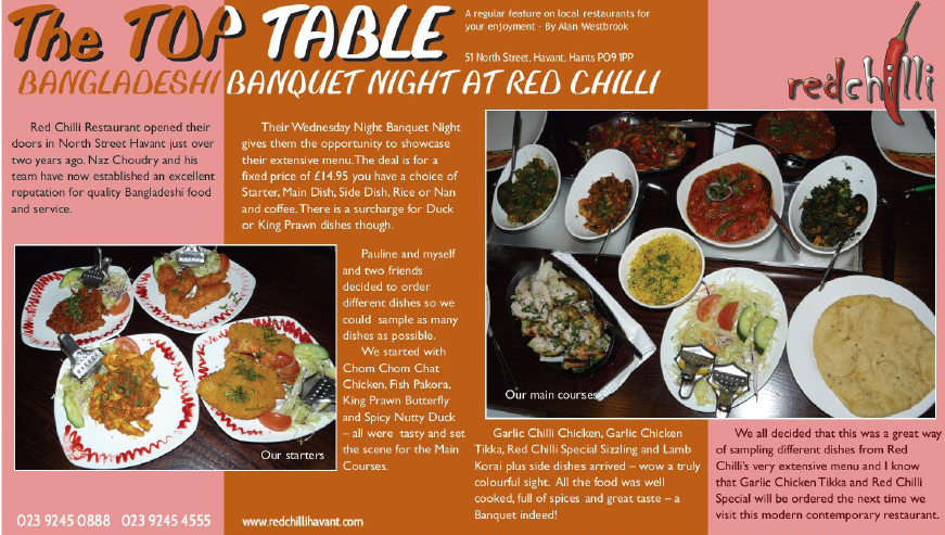 Bangladeshi night at Red Chilli