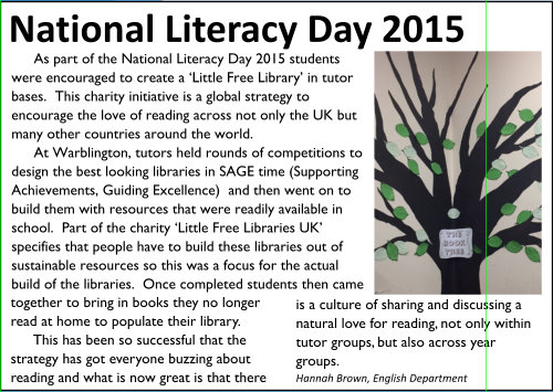 National Literacy Day 2015